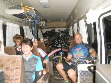 Bus trip to the start of race
